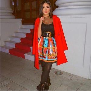 GORGEOUS ZARA NWT Chain Pleated Skirt